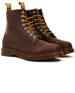 8 Eye Rugged Boots Brown