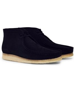 Suede Wallabee Boot Natural Black