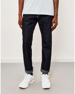 Ed-55, Relaxed Tapered, Deep Blue Jeans, Unwashed