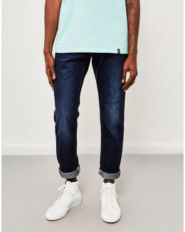 Ed-55, Relaxed Tapered, Deep Blue Jeans, Coal Washed