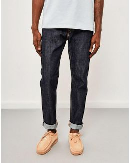 Ed-80, Slim Tapered, Red Listed Selvedge Jeans, Unwashed