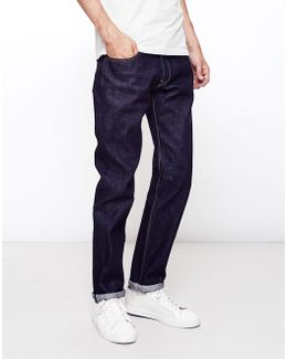 Classic, Japanese Rainbow Selvage, Regular Tapered, Washed Jeans