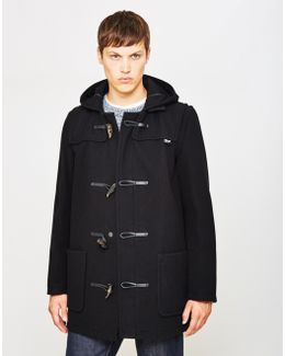 Melton Duffle Coat Black