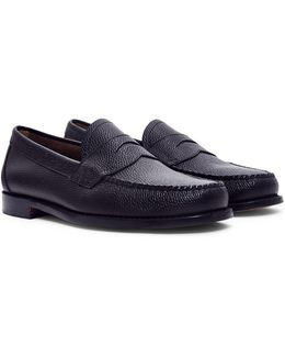Logan Grain Penny Loafer Black