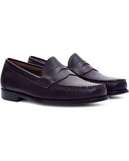 Logan Grain Penny Loafer Burgundy