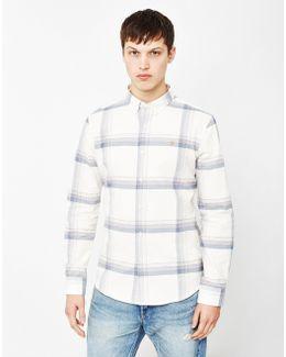 Naphill Slim Fit Check Shirt Off White