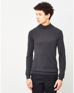 Adam Roll Neck Jumper Grey