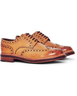Archie Leather Brogue Tan