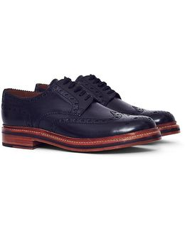 Archie Leather Brogue Black