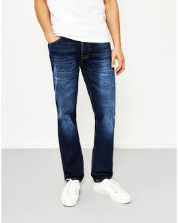 Dude Dan Dark Fuzz Blue Jeans