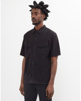 Svante Over Dyed Shirt Black