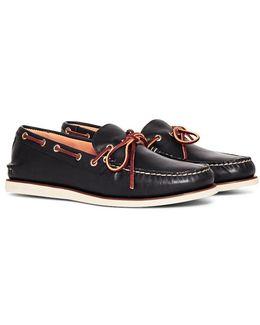 Gold Cup One Eye Boat Shoe Navy