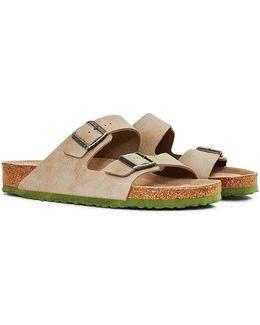 Two Tone Arizona Sandal Tan Men's Mules / Casual Shoes In Grey