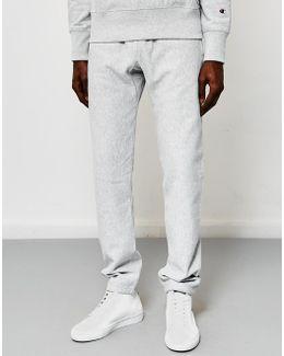 Reverse Weave Elastic Cuff Joggers Grey