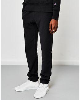 Reverse Weave Elastic Cuff Joggers Black