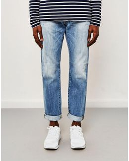 Ed-55, Regular Tapered, Dark Blue Jeans, Heaven Wash