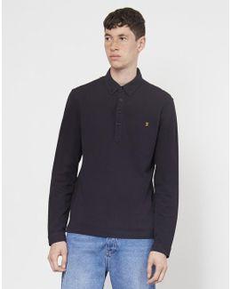 Merriweather Long Sleeve Polo Shirt Black