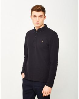 Merriweather Long Sleeve Polo Shirt Black