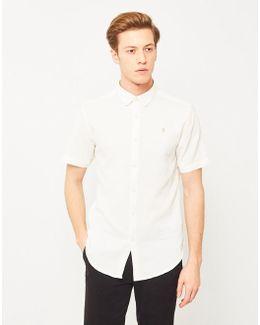 Bolham Textured Short Sleeve Shirt White