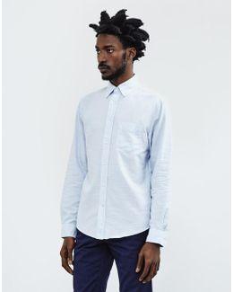 Kick-ass Slub Oxford Shirt Blue