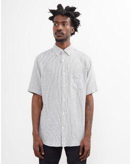Boucle Micro Stripe Shirt Navy