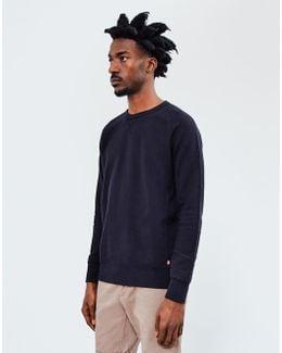 Red Tab Original Crew Sweatshirt Black