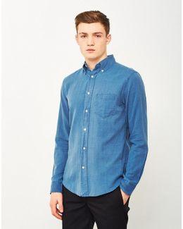 Indigo Oxford Shirt Blue