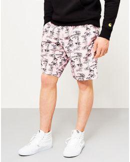 Pine Shorts With Hawaii Print