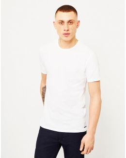 2 Pack Slim Fit T-shirts White