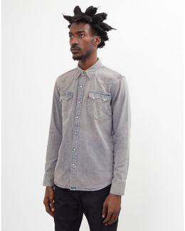Sawtooth Denim Shirt Grey