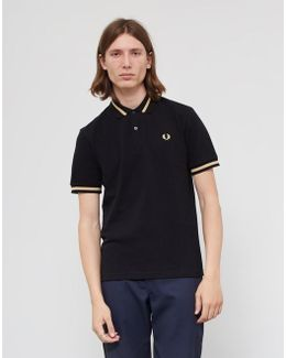 Made In England M2 Single Tipped Polo Shirt Black