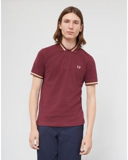 Made In England M2 Single Tipped Polo Shirt Burgundy
