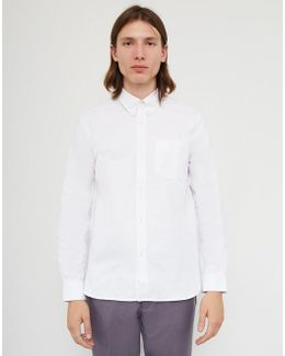 Long Sleeve Heavy Oxford Shirt White