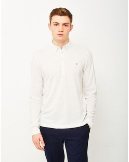 Merriweather Long Sleeve Polo Shirt Off White