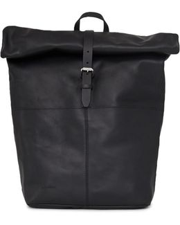 Antonia Leather Backpack Black