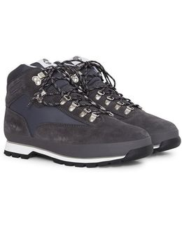 Euro Hiker Boots Fabric & Leather Dark Grey