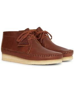 Leather Weaver Boot Brown