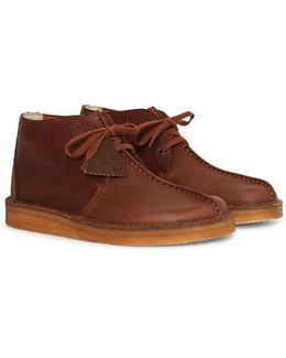 Leather Trek Hi Desert Boot Brown