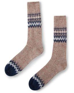 Tweed Nepp Crew Sock Grey