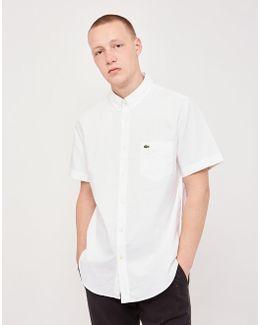 Short Sleeved Oxford Shirt White