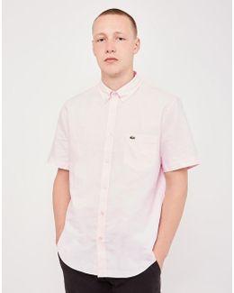 Short Sleeved Oxford Shirt Pink