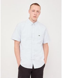Short Sleeved Oxford Shirt Grey