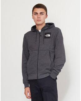 Fine Full Zip Hoodie Dark Grey