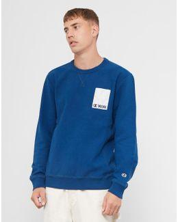 Reverse Weave Crew Sweatshirt Navy