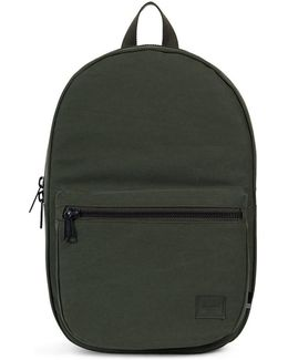 Lawson Cotton Canvas Backpack Green