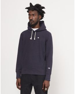 Pop Over Hooded Sweatshirt Navy