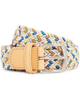 Woven Belt Pink & Blue