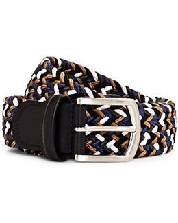 Woven Belt Blue, Black & Brown