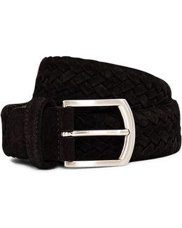 Suede Woven Belt Black