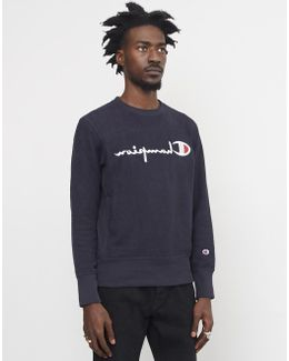 Champion Terry Classic Reverse Weave Sweatshirt Navy